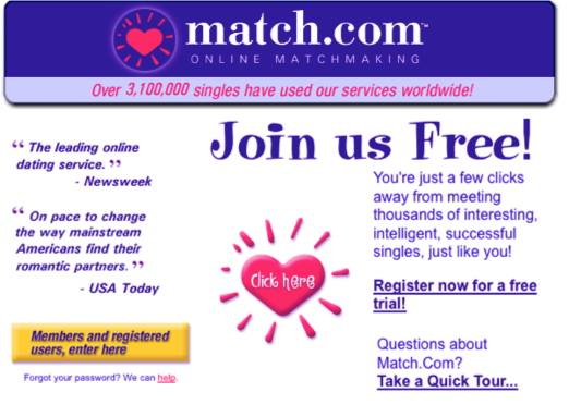 dating site with email address
